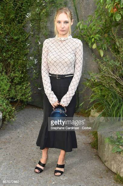 Julia Roy attends the Chanel show as part of the Paris Fashion Week Womenswear Spring/Summer 2018 at on October 3 2017 in Paris France