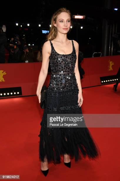 Julia Roy attends the 'Eva' premiere during the 68th Berlinale International Film Festival Berlin at Berlinale Palast on February 17 2018 in Berlin...