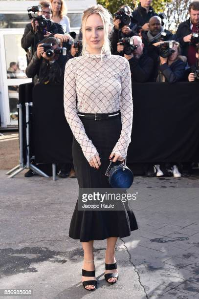 Julia Roy is seen arriving at Chanel show during Paris Fashion Week Womenswear Spring/Summer 2018on October 3 2017 in Paris France