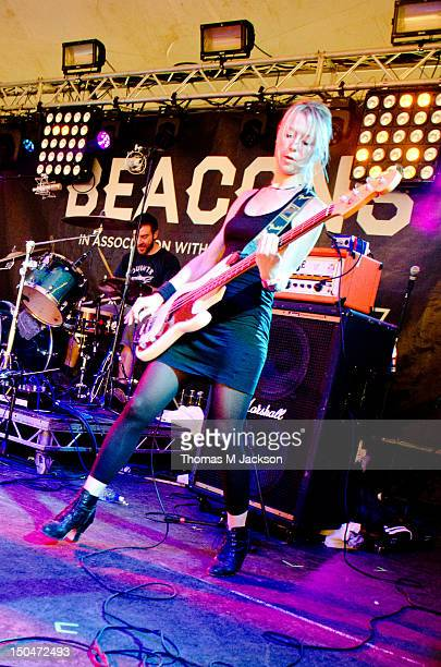 Julia Ruzicka of Future of the Left performs on stage during day 2 of the Beacons music festival on August 18 2012 in Skipton United Kingdom