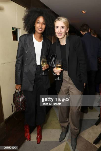 Julia Sarr Jamois and Holly Shackleton attend the launch of the Christopher Kane Christmas terrace at Scott's on November 14 2018 in London England