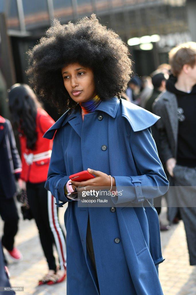Gucci - Outside Arrivals - Milan Fashion Week Fall/Winter 2018/19 : Nachrichtenfoto