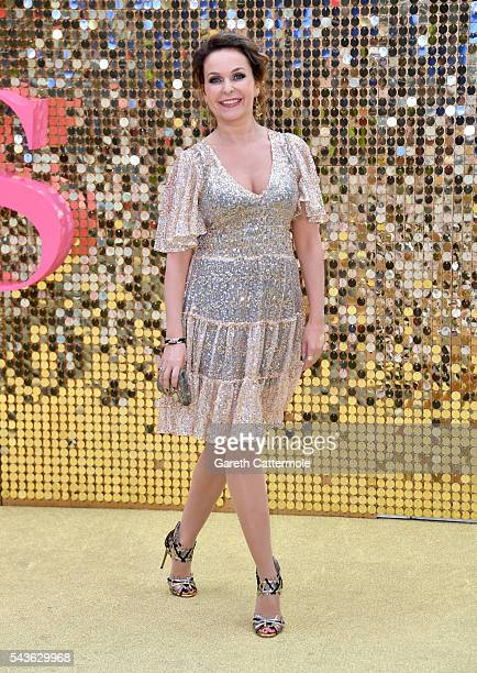 Julia Sawalha attends the Absolutely Fabulous The Movie World Premiere at the Odeon Leicester Square on June 29 2016 in London England