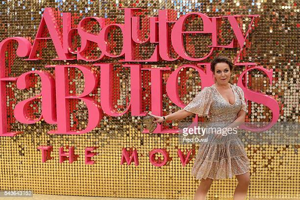 Julia Sawalha attends the World premiere of Absolutely Fabulous at Odeon Leicester Square on June 29 2016 in London England