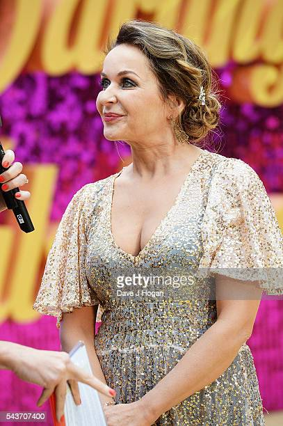 Julia Sawalha attends the World Premiere of Absolutely Fabulous The Movie at Odeon Leicester Square on June 29 2016 in London England