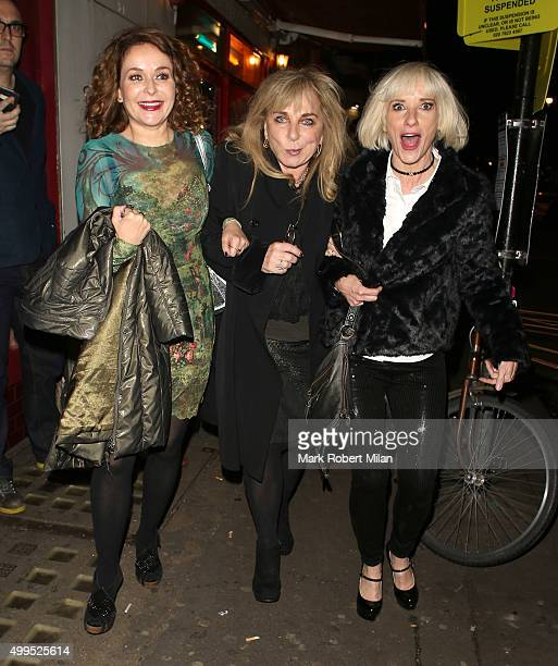 Julia Sawalha, Helen Lederer and Jane Horrocks attending the Absolutely Fabulous film Wrap party at U restaurant on December 1, 2015 in London,...