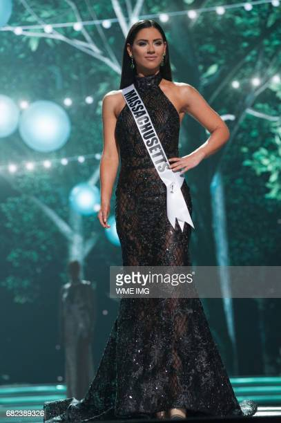 Julia Scaparotti Miss Massachusetts USA 2016 competes on stage in her evening gown during the MISS USA® Preliminary Competition at Mandalay Bay...