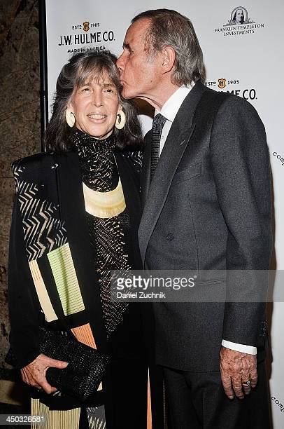 Julia Schafler and Jim Dale attend the 2013 New York Stage And Film Gala at The Plaza Hotel on November 17 2013 in New York City