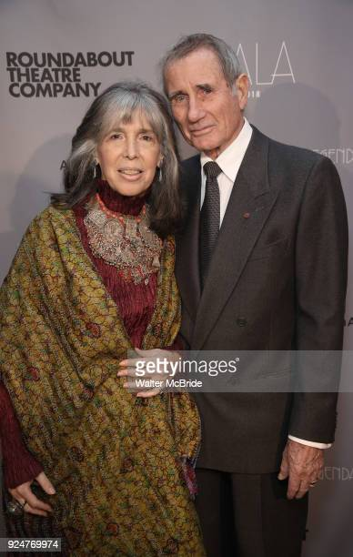 "Julia Schafler and Jim Dale attend the Roundabout Theatre Company's 2018 Gala ""A Legendary Night"" on February 26, 2018 at the The Ziegfeld Ballroom..."