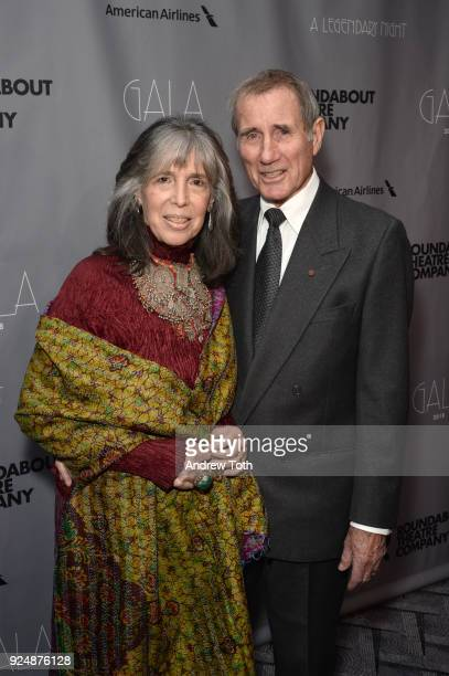 Julia Schafler and Jim Dale attend the Roundabout Theatre Company's 2018 Gala at The Ziegfeld Ballroom on February 26 2018 in New York City