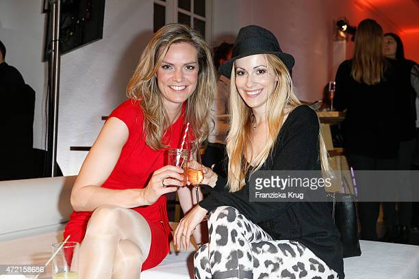 Julia Scharf Andrea Kaiser attend the OTTO Exclusive Sport Cooperation celebrations on May 04 2015 in Munich Germany