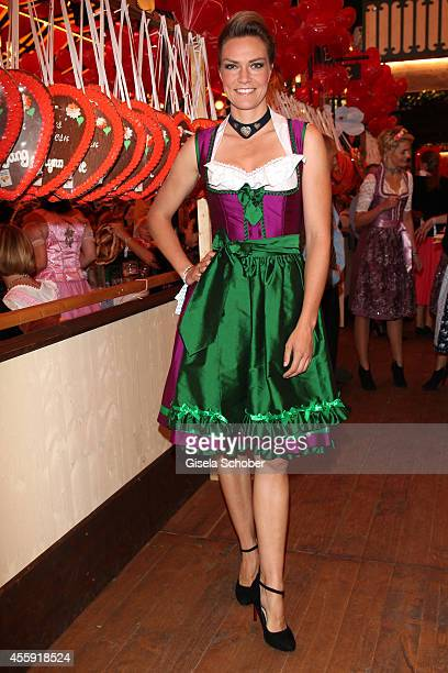 Julia Scharf attends the 'Sixt Damen Wiesn' at Marstall tent during Oktoberfest at Theresienwiese on September 22 2014 in Munich Germany