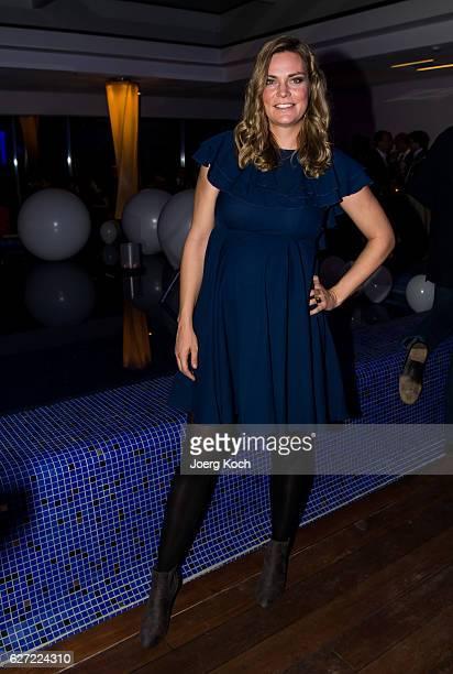 Julia Scharf during the ARD advent dinner hosted by the program director of the tv station Erstes Deutsches Fernsehen at Hotel Bayerischer Hof on...