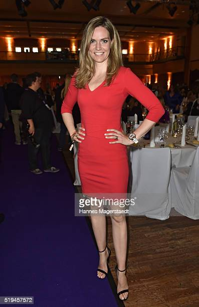Julia Scharf during the 'EAGLES Fashion Dinner' at Nockherberg on April 6 2016 in Munich Germany