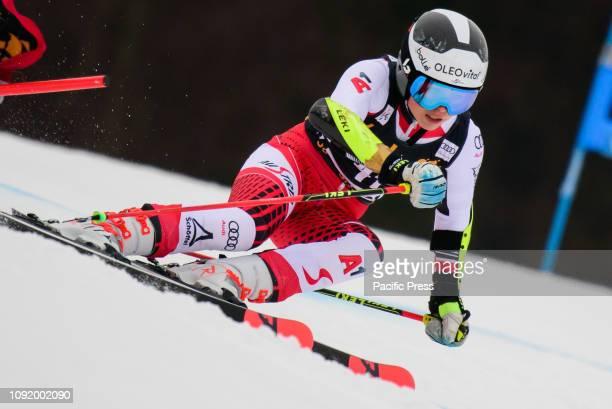 Julia Scheib of Austria in action during the Audi FIS Alpine Ski World Cup Women's Giant Slalom Golden Fox in Maribor, Slovenia.
