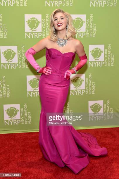 Julia Schlaepfer attends Bette Midler's 2019 Hulaween at New York Hilton Midtown on October 31 2019 in New York City