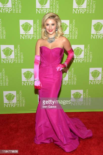 Julia Schlaepfer attends Bette Midler's Hulaween To Benefit NY Restoration Project at New York Midtown Hilton on October 31 2019 in New York City
