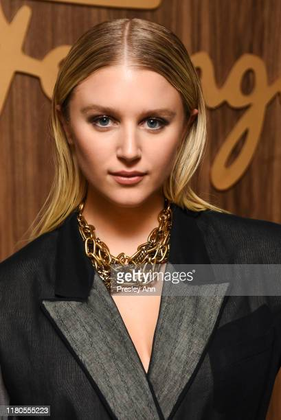 Julia Schlaepfer attends ELLE x Ferragamo Hollywood Rising Party at Sunset Tower on October 11, 2019 in Los Angeles, California.