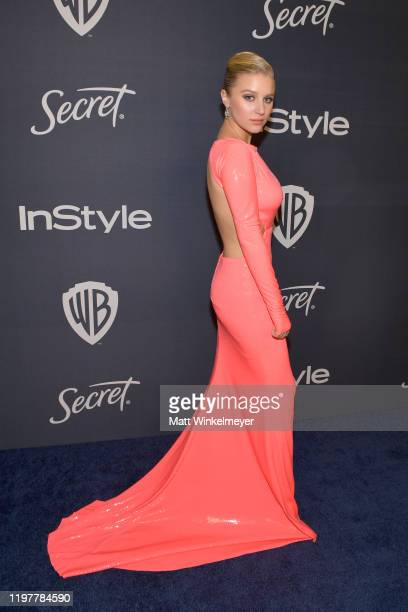 Julia Schlaepfer attends The 2020 InStyle And Warner Bros 77th Annual Golden Globe Awards PostParty at The Beverly Hilton Hotel on January 05 2020 in...