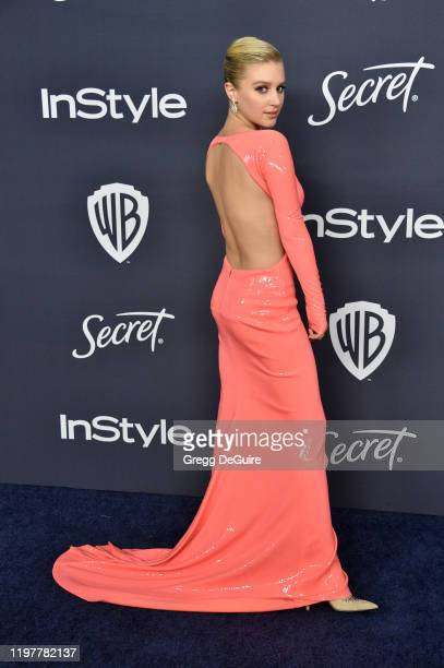 Julia Schlaepfer attends the 21st Annual Warner Bros And InStyle Golden Globe After Party at The Beverly Hilton Hotel on January 05 2020 in Beverly...