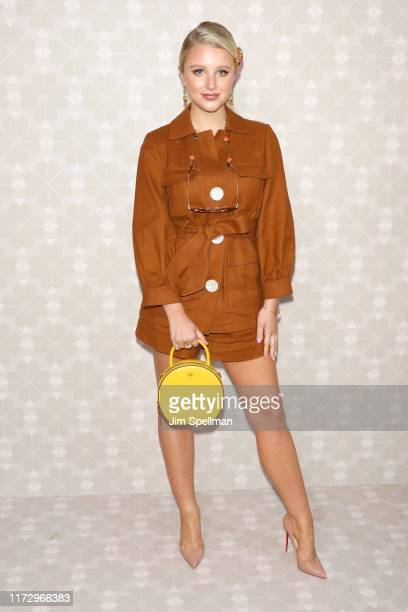 Julia Schlaepfer attends the Kate Spade New York front row during New York Fashion Week at Elizabeth Street Gardens on September 07 2019 in New York...