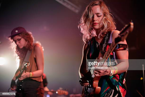 Julia Shapiro and Annie Truscott of Chastity Belt perform onstage at the Hype/Gorilla vs Bear showcase during the 2015 SXSW Music Film Interactive...
