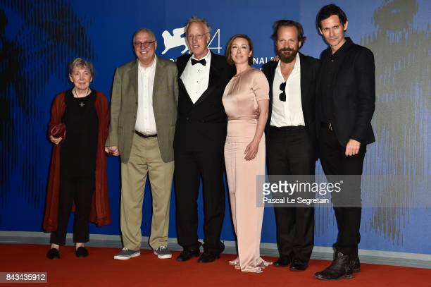 Julia Sheehan Errol Morris Eric Olson Molly Parker Peter Sarsgaard and Christian Camargo walk the red carpet ahead of the 'Wormwood' screening during...