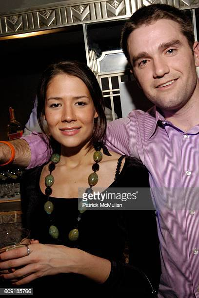 Julia Sideri and Alan Rivoir attend BIG Magazine 10 Cane Rum Launch BIG Show at Beaver Bar on February 8 2007 in New York City