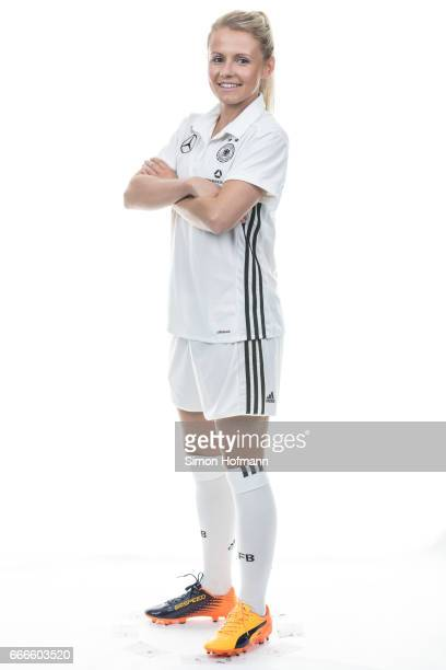 Julia Simic poses during the DFB Ladies Marketing Day on April 3 2017 in Frankfurt am Main Germany