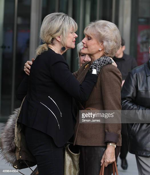 Julia Somerville and Angela Rippon sighting at the BBC on November 27 2014 in London England