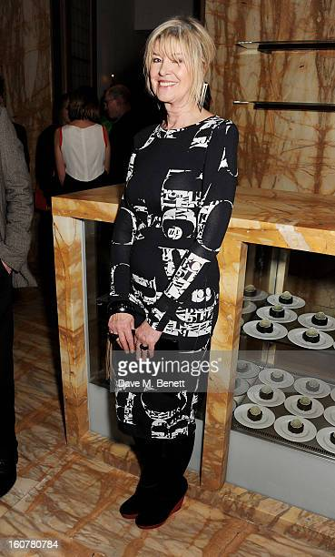 Julia Somerville attends a reception hosted by Sir David Chipperfield to celebrate the awarding of the RIBA Royal Gold Medal to Swiss architect Peter...