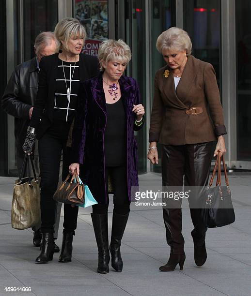 Julia Sommerville Angela Rippon and Gloria Hunniford sighting at the BBC on November 27 2014 in London England