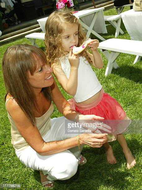 Julia Sorkin and Roxy during Escada Kidswear Launch Party and Birthday at the Home of Patty Penske at Patty Penske Home in Los Angeles, California,...