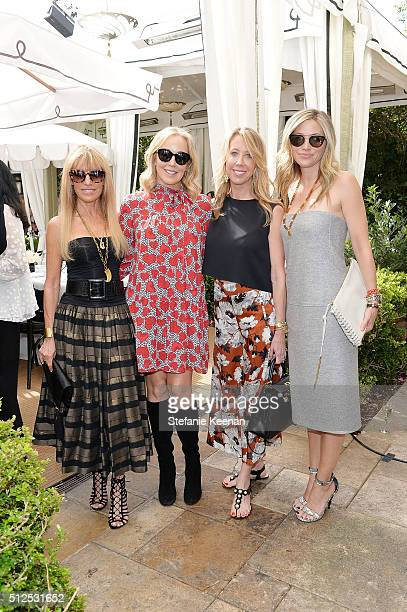 Julia Sorkin Jaffe Julie and Eve Geber attend NETAPORTER Celebrates Women Behind The Lens at Chateau Marmont on February 26 2016 in Los Angeles...