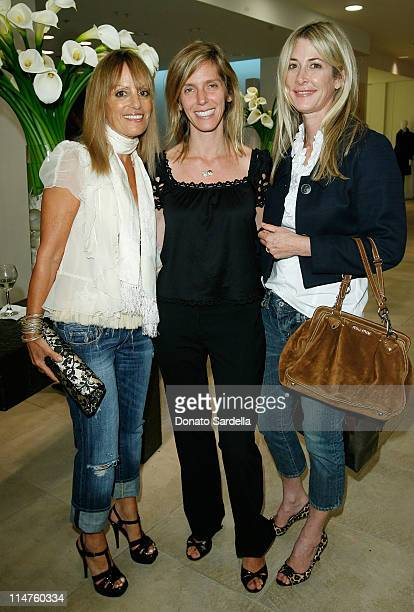 Julia Sorkin Jane Buckingham and Kelly Styne attend the Saks Fifth Avenue La Prairie event on September 17 2008 in Beverly Hills California