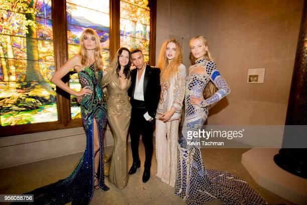 Julia Stegner, Juliette Binoche, Olivier Rousteing, Natalia Vodianova and Natasha Poly attend the Heavenly Bodies: Fashion & The Catholic Imagination...