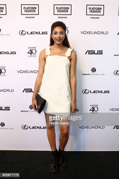 Julia Steyns attends the 3D Fashion Presented By Lexus/Voxelworld show during Platform Fashion July 2017 at Areal Boehler on July 22 2017 in...