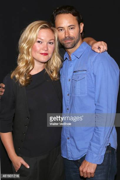 Julia Stiles and James Wirt attend the 'Phoenix' Cast Photo Call at their rehearsal studio on July 9 2014 in New York City