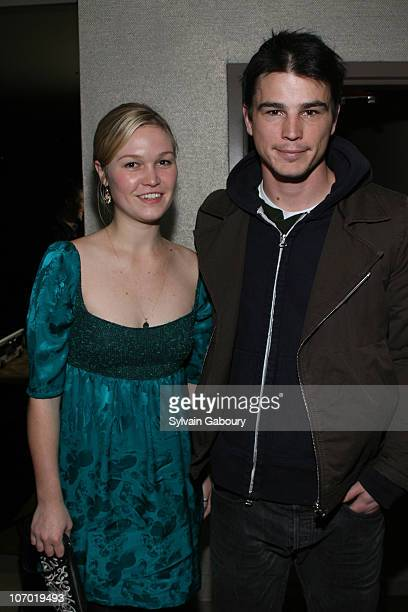 Julia Stiles and Josh Hartnett during Children Of Men New York Screening After Party Hosted by The Cinema Society and GQ Inside Arrivals at The Soho...