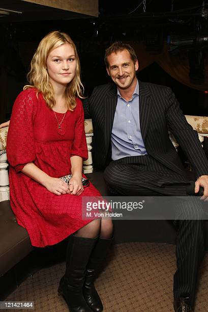 Julia Stiles and Josh Lucas during 'Les Perles de Chanel' Private Dinner at the Box Inside at The Box in New York City New York United States