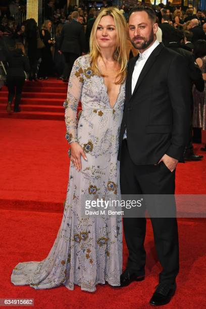 Julia Stiles and Preston JCook attend the 70th EE British Academy Film Awards at Royal Albert Hall on February 12 2017 in London England