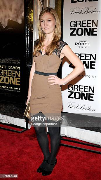 Julia Stiles attends a screening of 'Green Zone' hosted by the Cinema Society Universal Pictures and Working Title Films at the AMC Loews Lincoln...