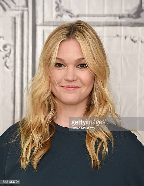 Julia Stiles attends AOL Build Speaker Series Julia Stiles Jason Bourne at AOL Studios In New York on July 5 2016 in New York City