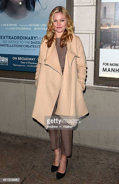 Julia Stiles attends 'Constellations' Broadway opening night at Samuel J Friedman Theatre on January 13 2015 in New York City