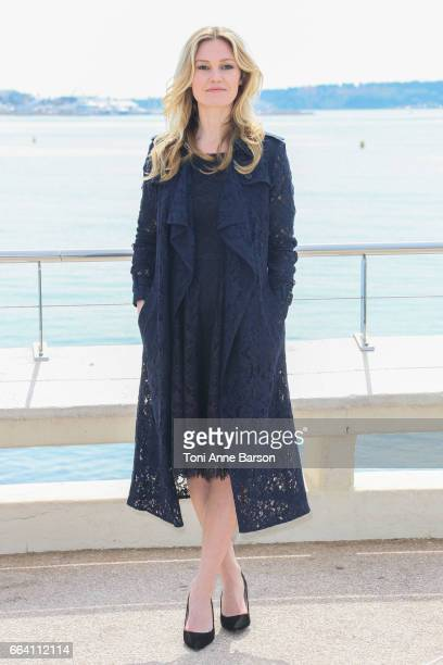 Julia Stiles attends 'Riviera' Photocall as part of MIPTV 2017 on April 3 2017 in Cannes France