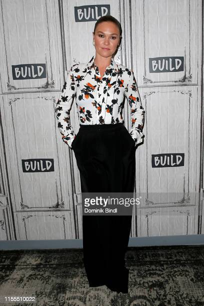Julia Stiles attends the Build Series to discuss 'Riviera' at Build Studio on June 12 2019 in New York City