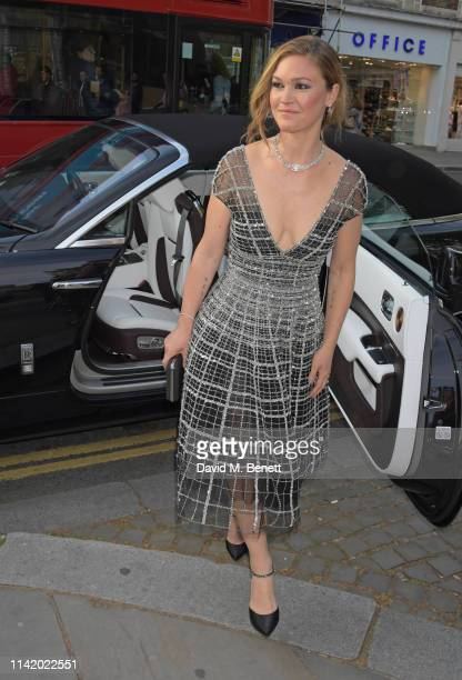 Julia Stiles attends the Premiere Screening for the new season of Sky Original Riviera at The Saatchi Gallery on May 7 2019 in London England