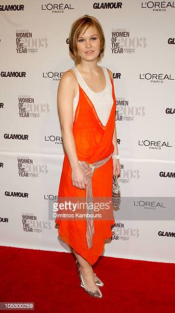 Julia Stiles during 14th Annual GLAMOUR Women of the Year Awards Red Carpet at American Museum of Natural History in New York City New York United...