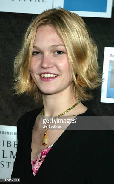 Julia Stiles during 2002 Tribeca Film Festival Closing Night Ceremony Arrivals at Tribeca Performing Arts Center in New York City New York United...