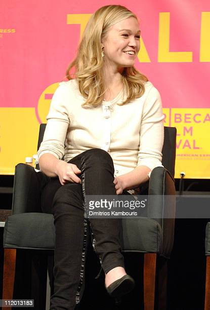 Julia Stiles during Bringing Home the Bacon Press Conference at Tribeca Performing Arts Center in New York City New York United States